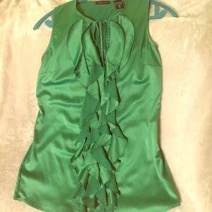 NY & Co. Ruffle Front Sleeveless Dress Shirt